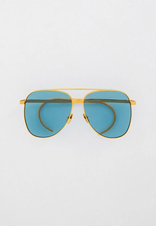 женские авиаторы солнцезащитные очки gucci, золотые