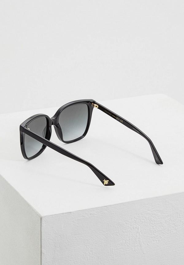 Фото 3 - Очки солнцезащитные Gucci черного цвета