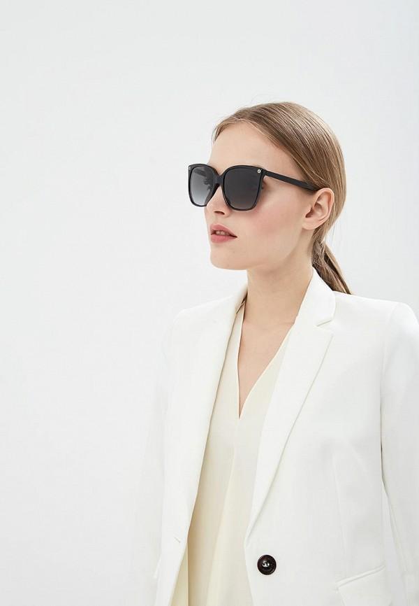 Фото 6 - Очки солнцезащитные Gucci черного цвета