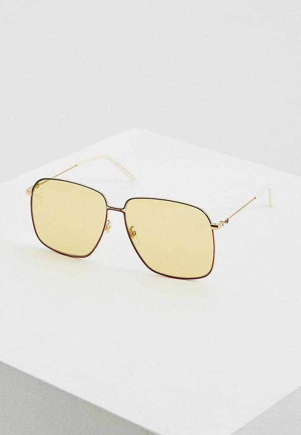 женские квадратные солнцезащитные очки gucci, разноцветные