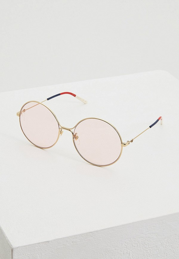 женские круглые солнцезащитные очки gucci, золотые
