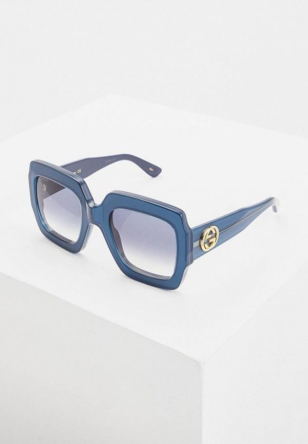 женские квадратные солнцезащитные очки gucci, синие