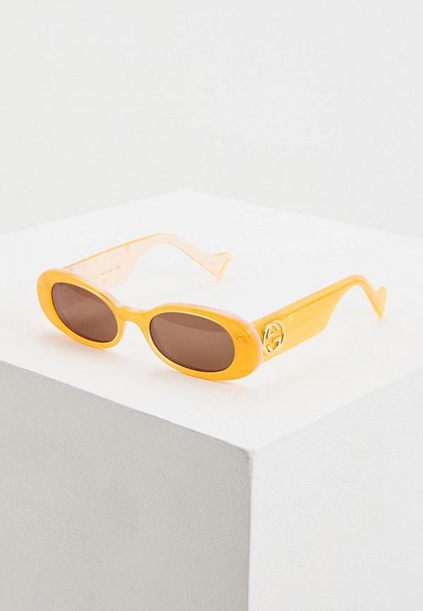 цена Очки солнцезащитные Gucci Gucci GU641DWFNYU4 онлайн в 2017 году