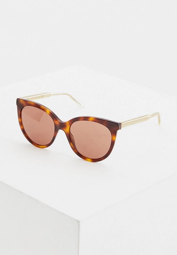 женские солнцезащитные очки кошачьи глаза gucci, коричневые