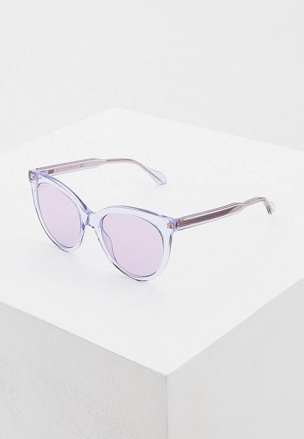 женские круглые солнцезащитные очки gucci, фиолетовые