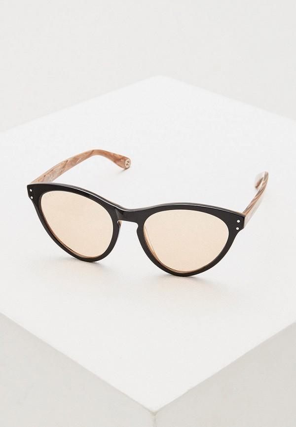 женские солнцезащитные очки кошачьи глаза gucci, черные