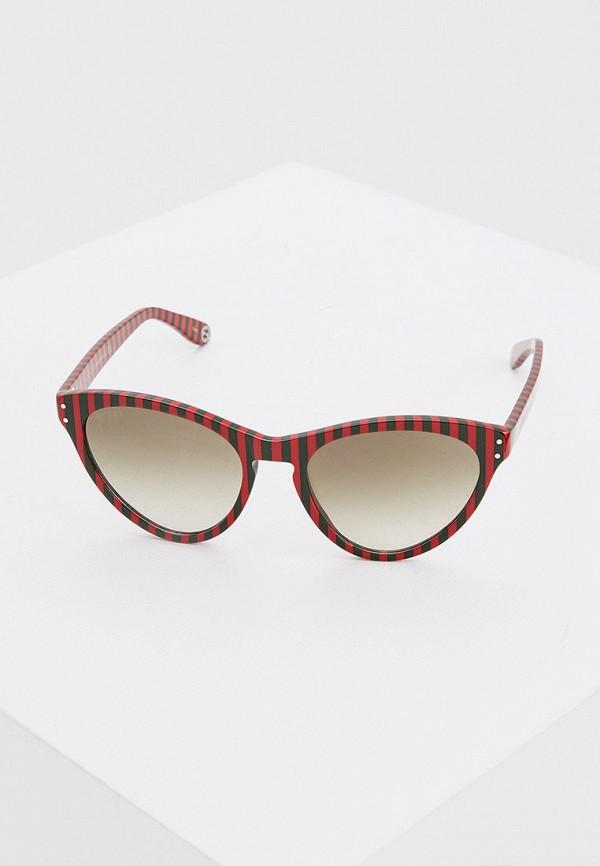 женские солнцезащитные очки кошачьи глаза gucci, красные