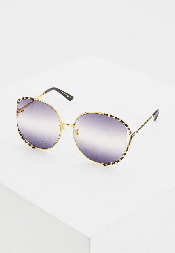 женские круглые солнцезащитные очки gucci, серые