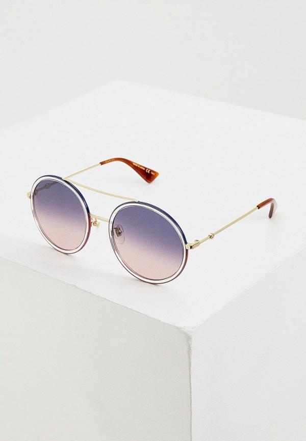 женские круглые солнцезащитные очки gucci, синие