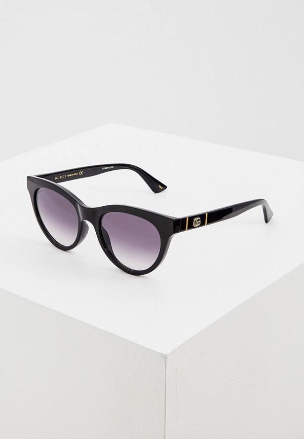 женские круглые солнцезащитные очки gucci, черные
