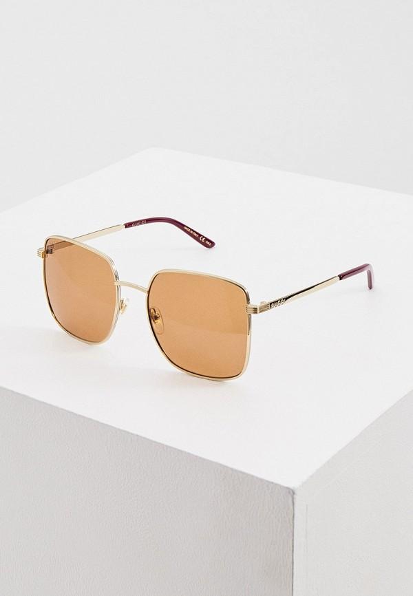 женские солнцезащитные очки gucci, золотые