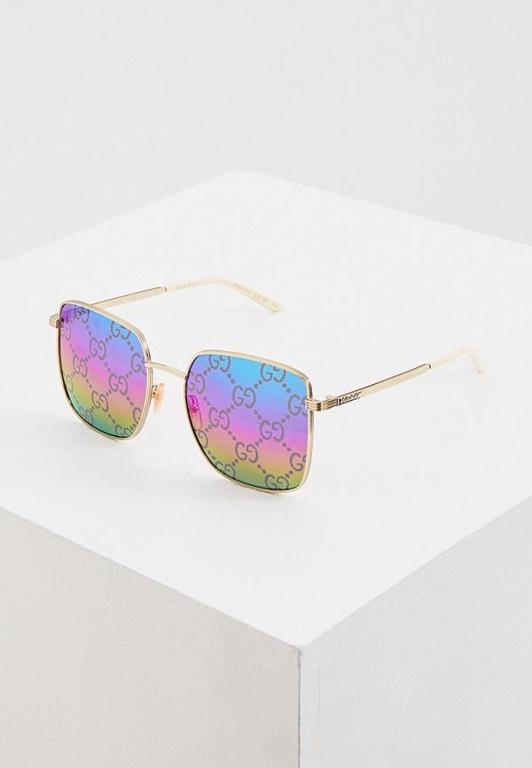 женские круглые солнцезащитные очки gucci, серебряные