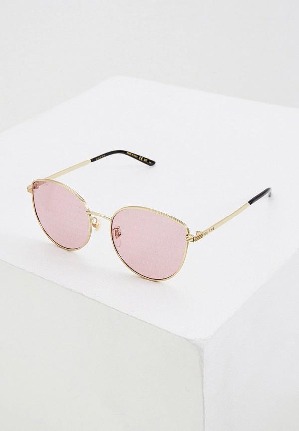 женские солнцезащитные очки кошачьи глаза gucci, золотые