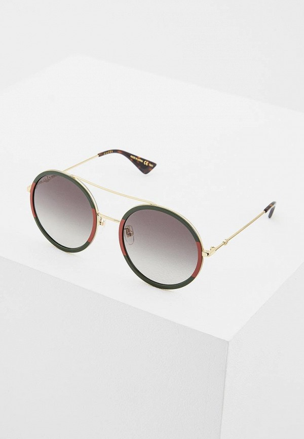 женские солнцезащитные очки gucci, зеленые