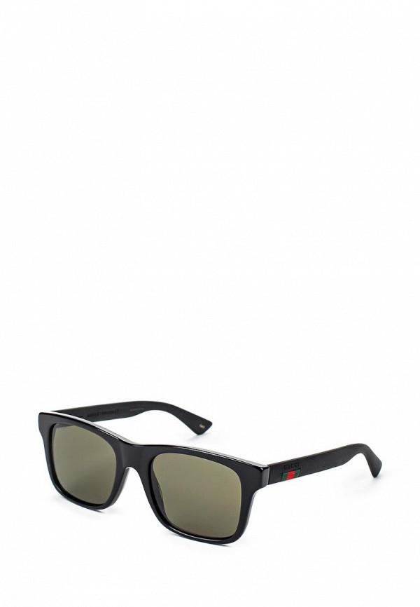 Фото - Очки солнцезащитные Gucci черного цвета