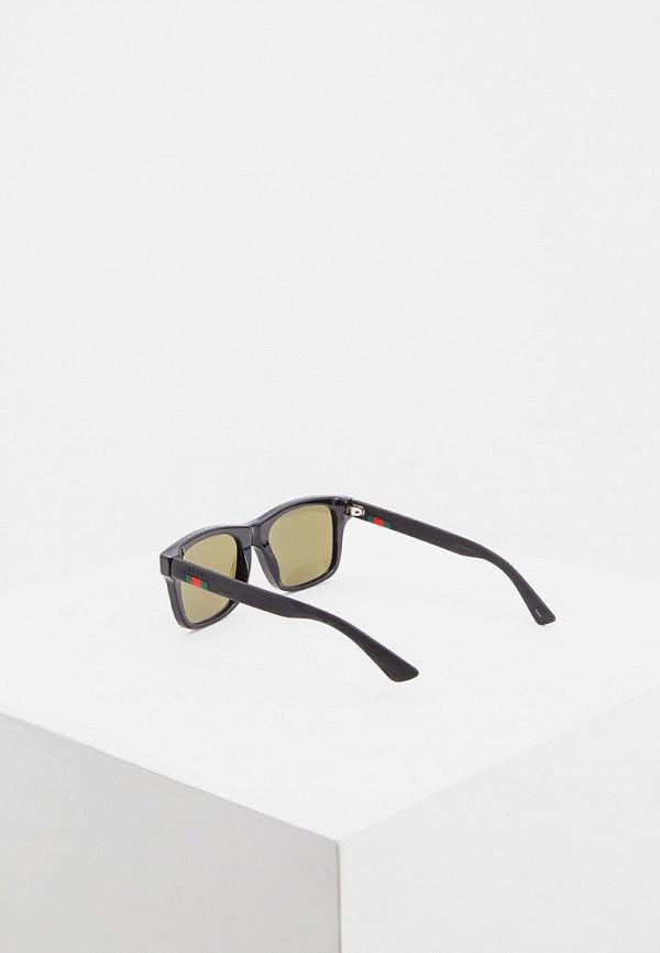Фото 8 - Очки солнцезащитные Gucci черного цвета