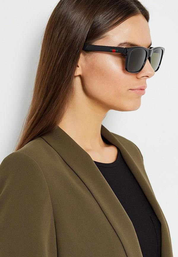Фото 5 - Очки солнцезащитные Gucci черного цвета