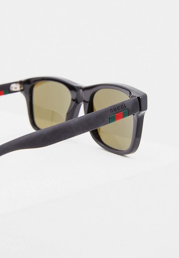 Фото 9 - Очки солнцезащитные Gucci черного цвета