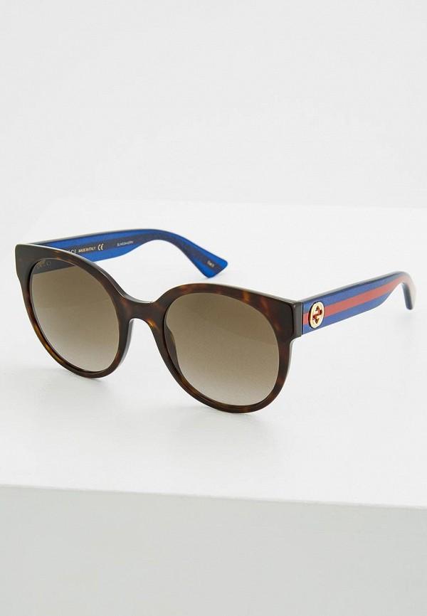 женские солнцезащитные очки gucci, коричневые