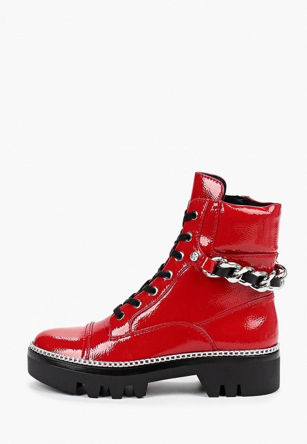 женские ботинки guess, красные