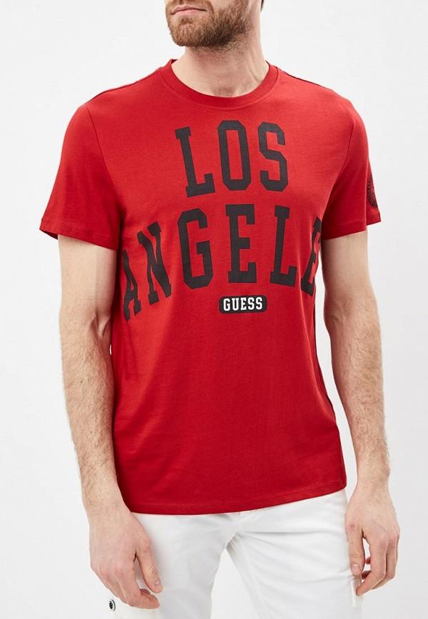 Купить Футболка Guess Jeans, gu644emeamg0, красный, Весна-лето 2019