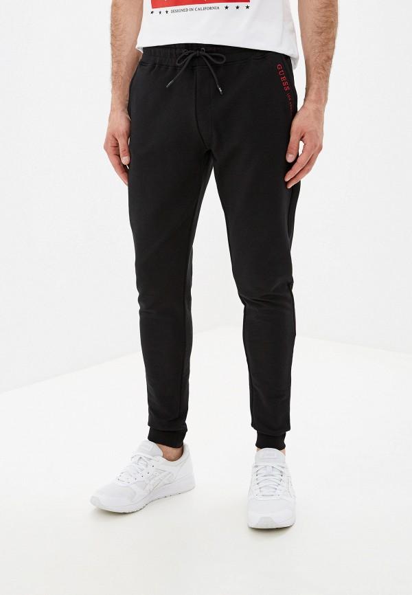 мужские спортивные спортивные брюки guess, черные