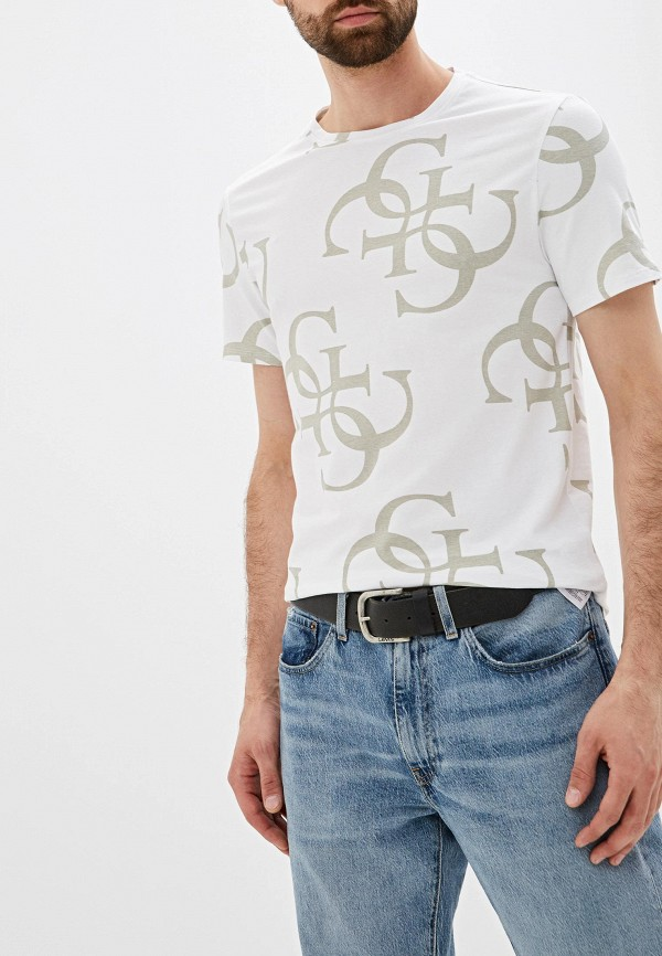 Фото - Футболку Guess Jeans белого цвета