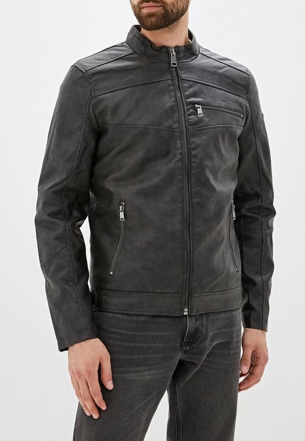 Фото - Куртку кожаная Guess Jeans черного цвета