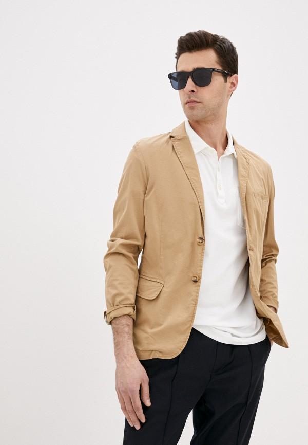 мужской пиджак guess, бежевый