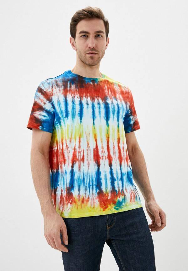 мужская футболка с коротким рукавом guess, разноцветная