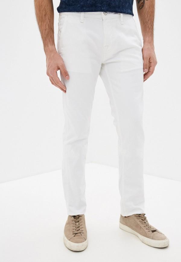 мужские зауженные джинсы guess, белые