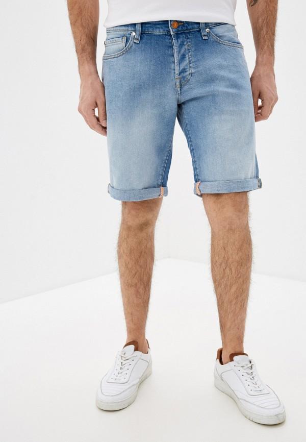 мужские джинсовые шорты guess, синие