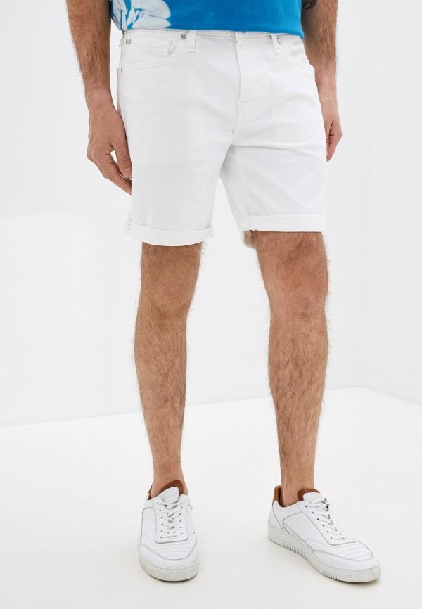 мужские джинсовые шорты guess, белые