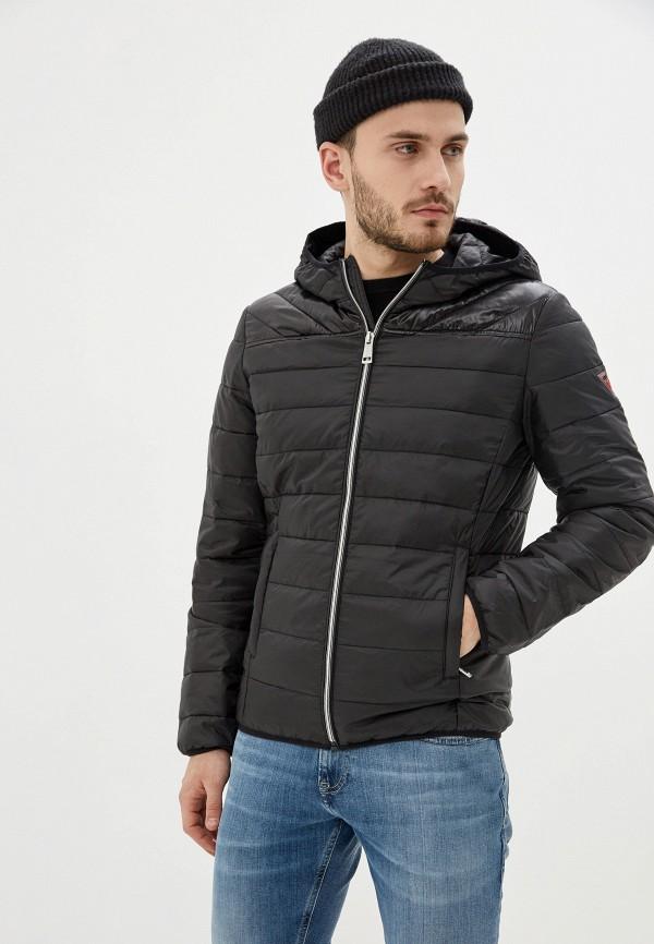 мужская утепленные куртка guess, черная