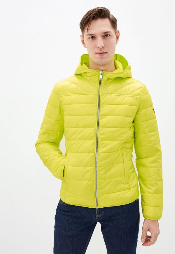 мужская куртка guess, желтая