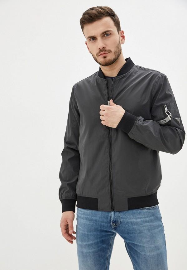 мужская куртка бомбер guess, черная