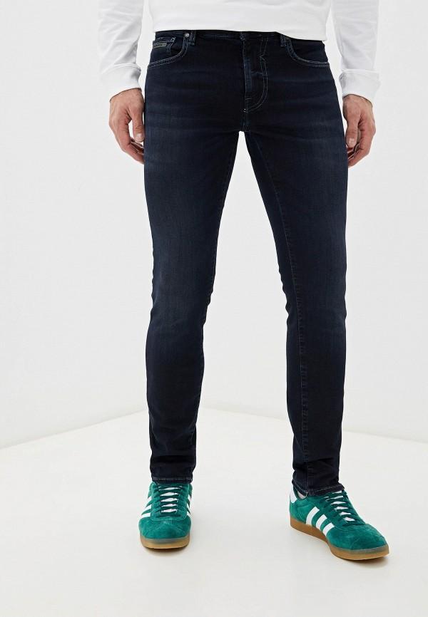 мужские зауженные джинсы guess, синие