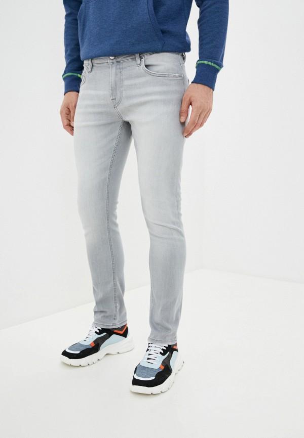 мужские зауженные джинсы guess, голубые