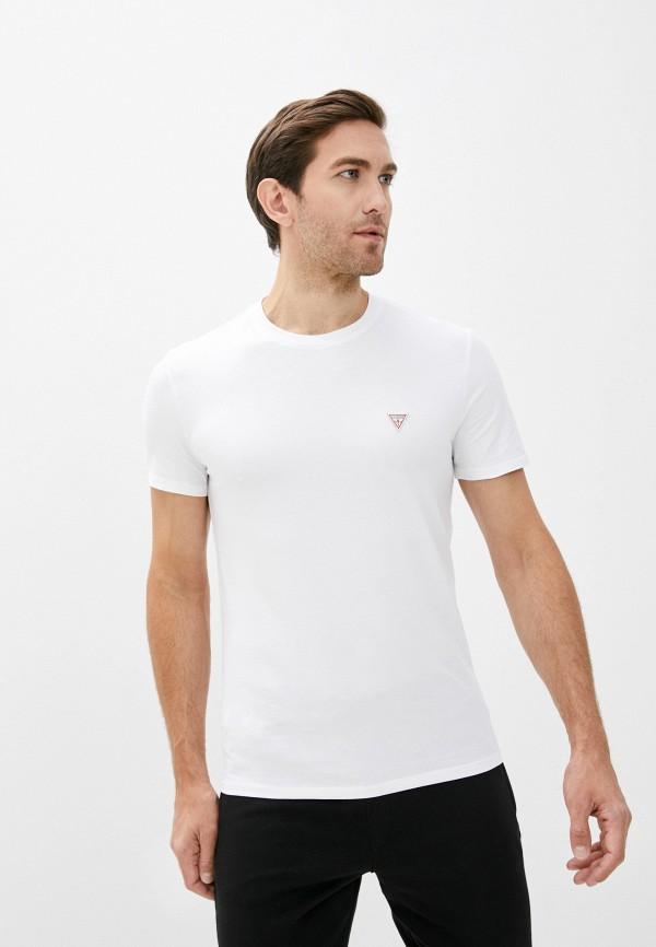 мужская футболка с коротким рукавом guess, белая