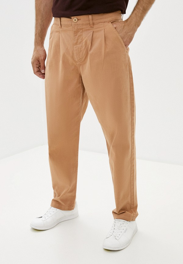 мужские прямые брюки guess, бежевые