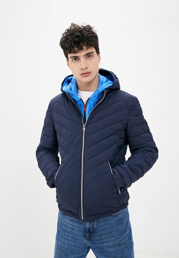 мужская куртка guess, синяя