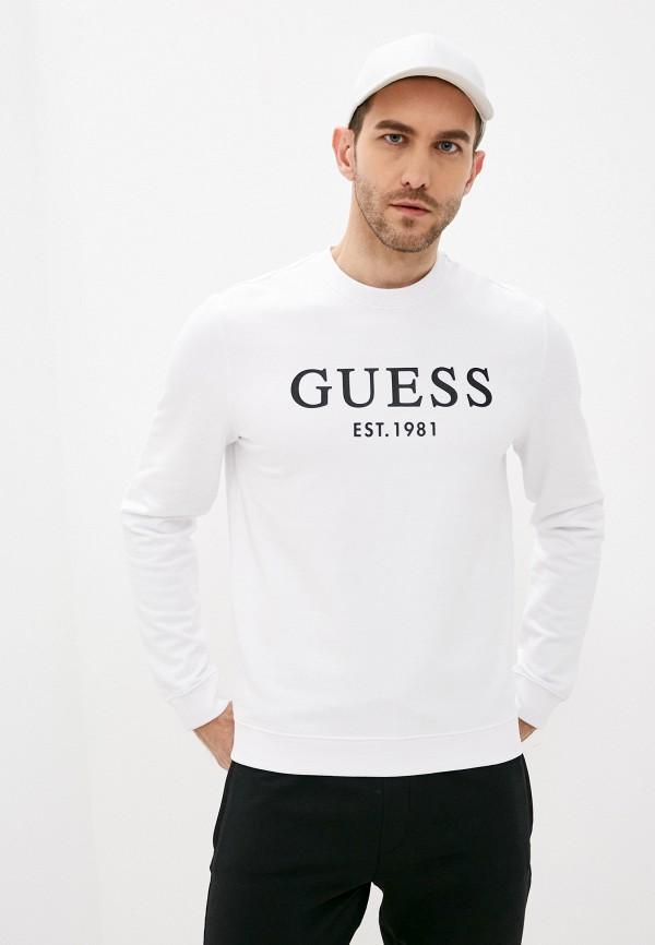 мужской свитшот guess, белый