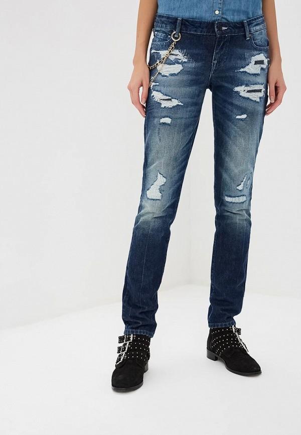 женские прямые джинсы guess, синие