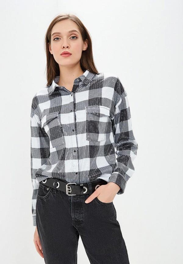 женская рубашка с длинным рукавом guess, серая