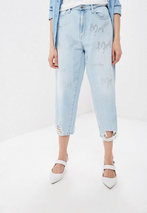 Купить Джинсы-мом, Джинсы Guess Jeans, JACQUELINE PANT, gu644eweasa2, голубой, Весна-лето 2019