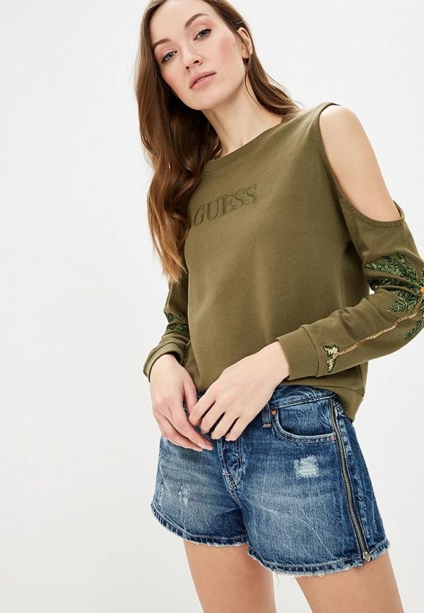 Купить Свитшот Guess Jeans, gu644ewease8, хаки, Весна-лето 2019