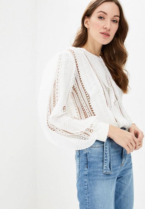 Блуза Guess Jeans, gu644eweasg7, белый, Весна-лето 2019  - купить со скидкой