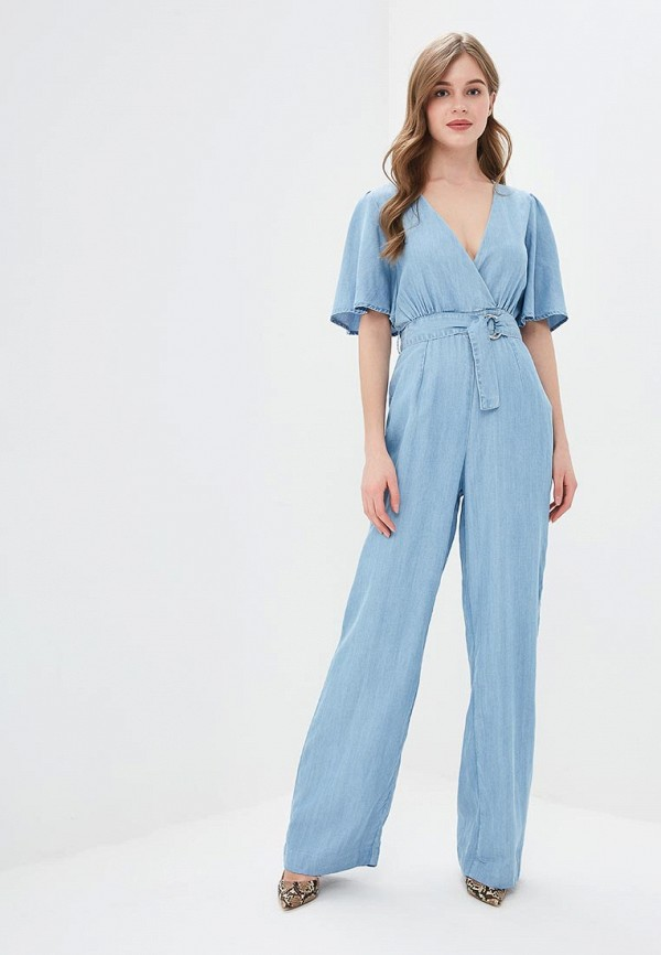 Комбинезон Guess Jeans, gu644eweast0, голубой, Весна-лето 2019  - купить со скидкой