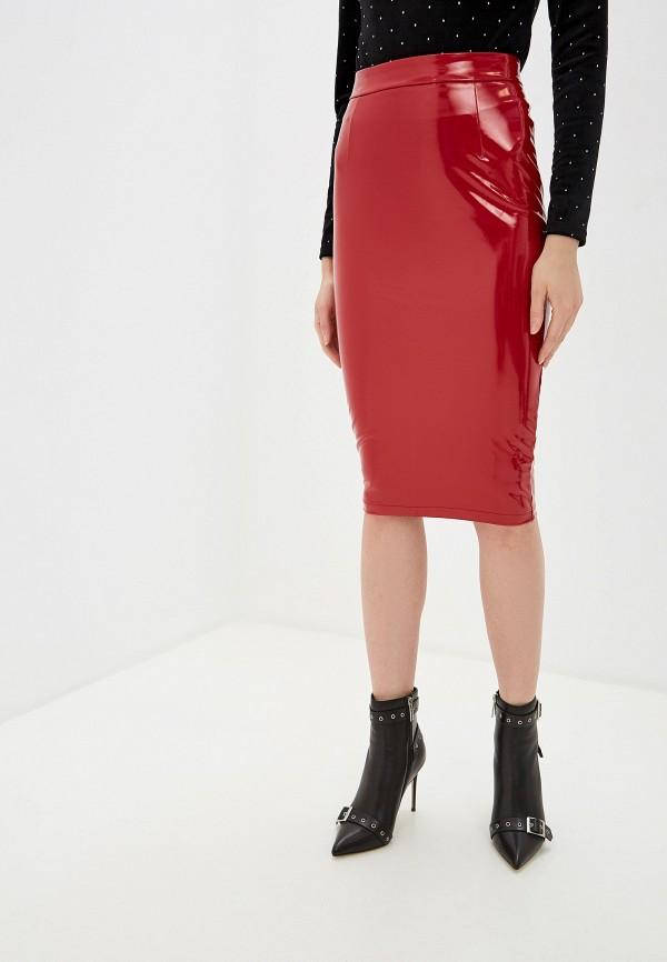 женская юбка guess, красная