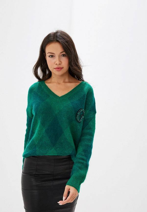 женский пуловер guess, зеленый